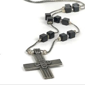 Silpada Sterling Silver Cross Religious Necklace